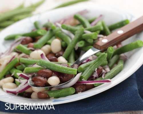طريقة عمل سلطة الفاصوليا الخضراء على طريقة بيتزا هت Recipe Bean Recipes Bean Salad Vinaigrette Recipes
