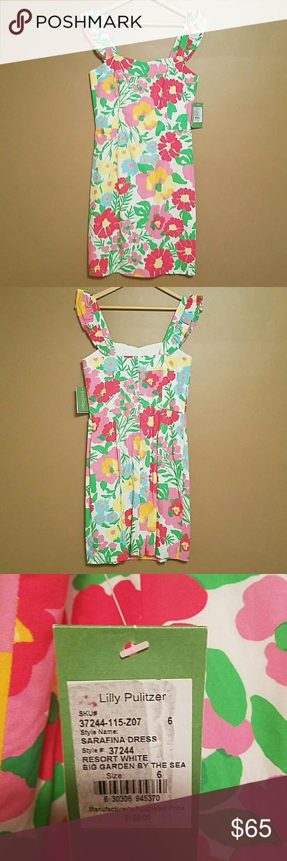 e6a0730ef82af1 NWT Lilly Pulitzer Sarafina Dress 6 Brand new adorable Lilly dress in the  print