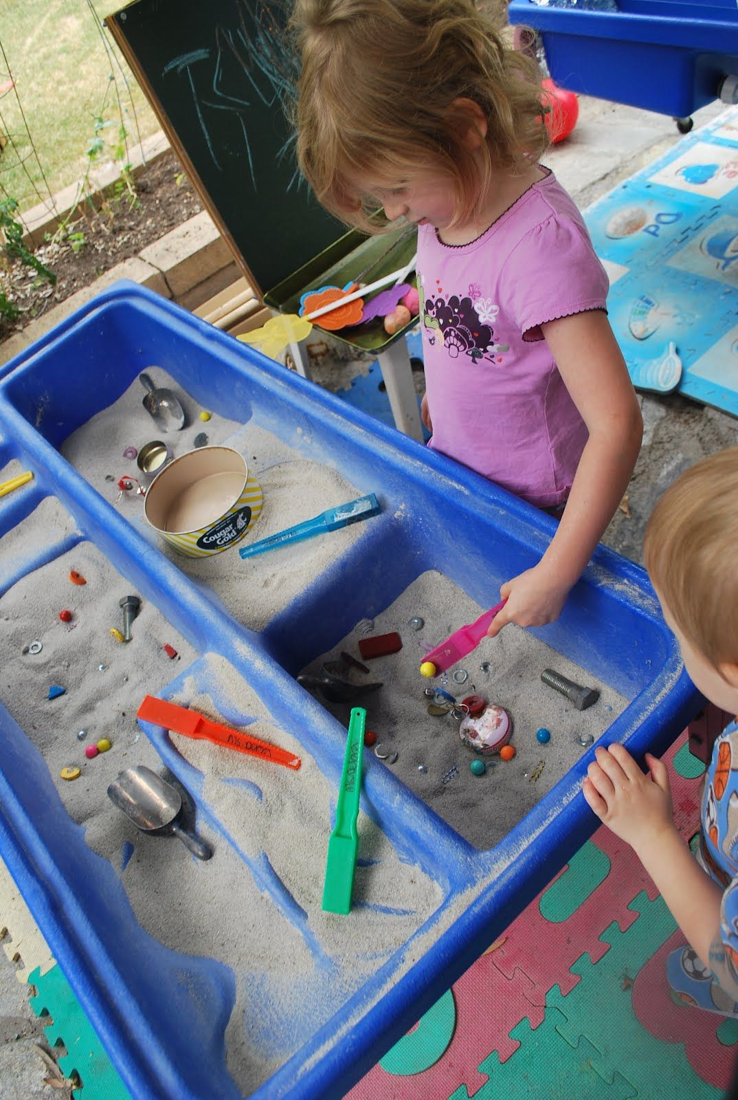 Go On A Magnet Hunt In The Sand Table Search For Hidden