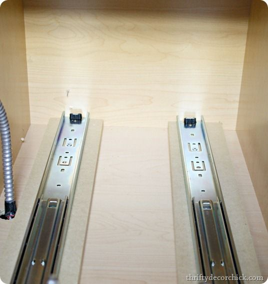 DIY Roll Out Drawer Slides