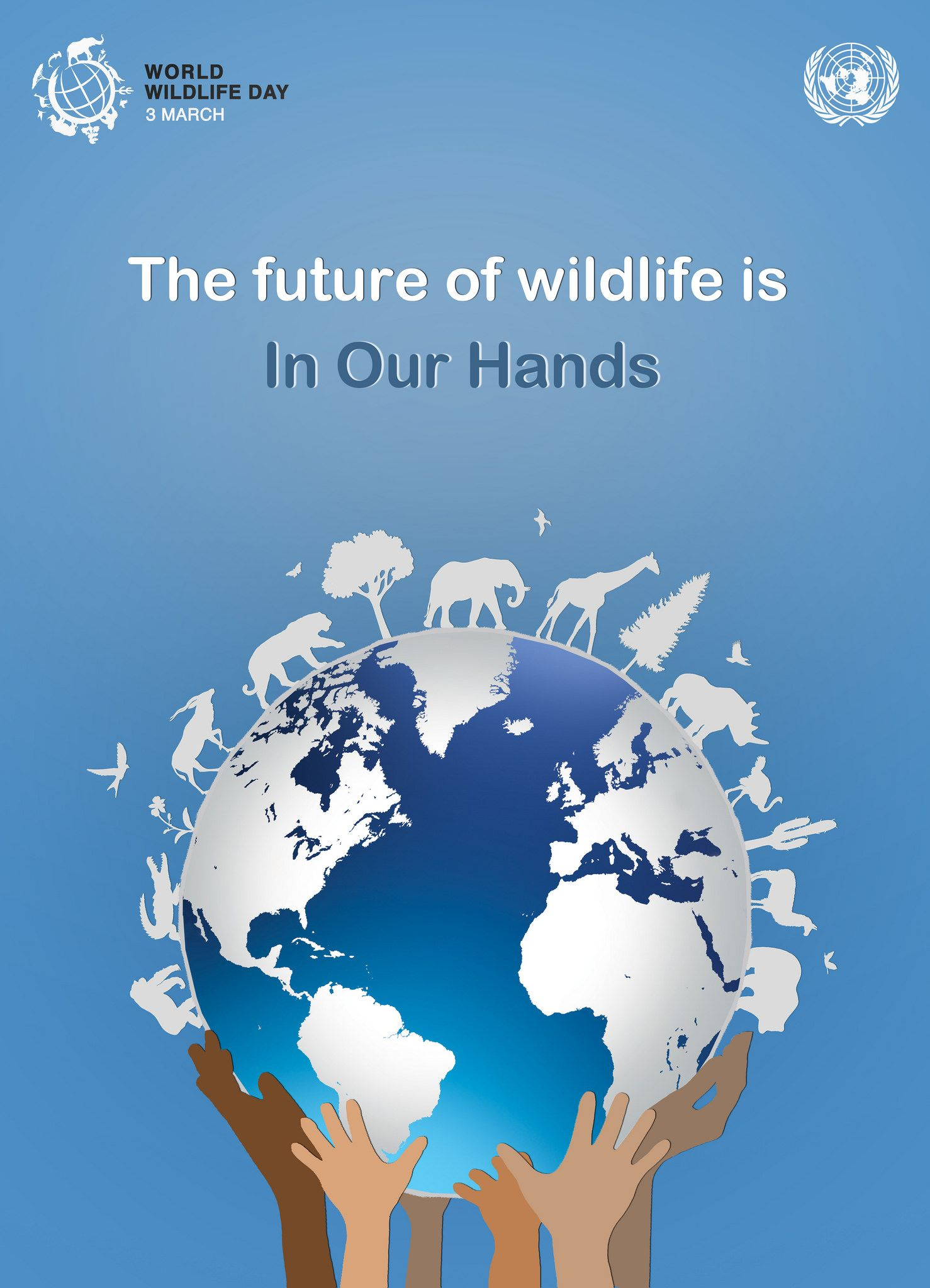 Outreach Material Official Website Of Un World Wildlife Day Wildlife Day Poster On Save Wildlife Conservation Art