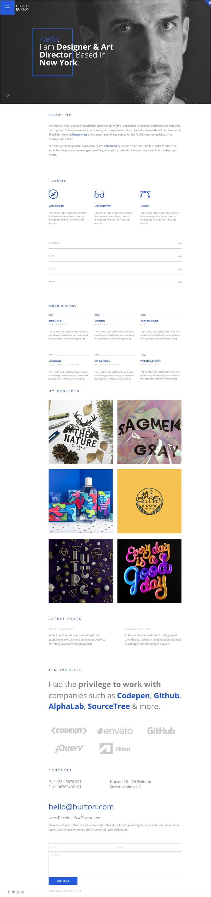 Berton Is A Stunning Design Powerful Bootstrap Template For