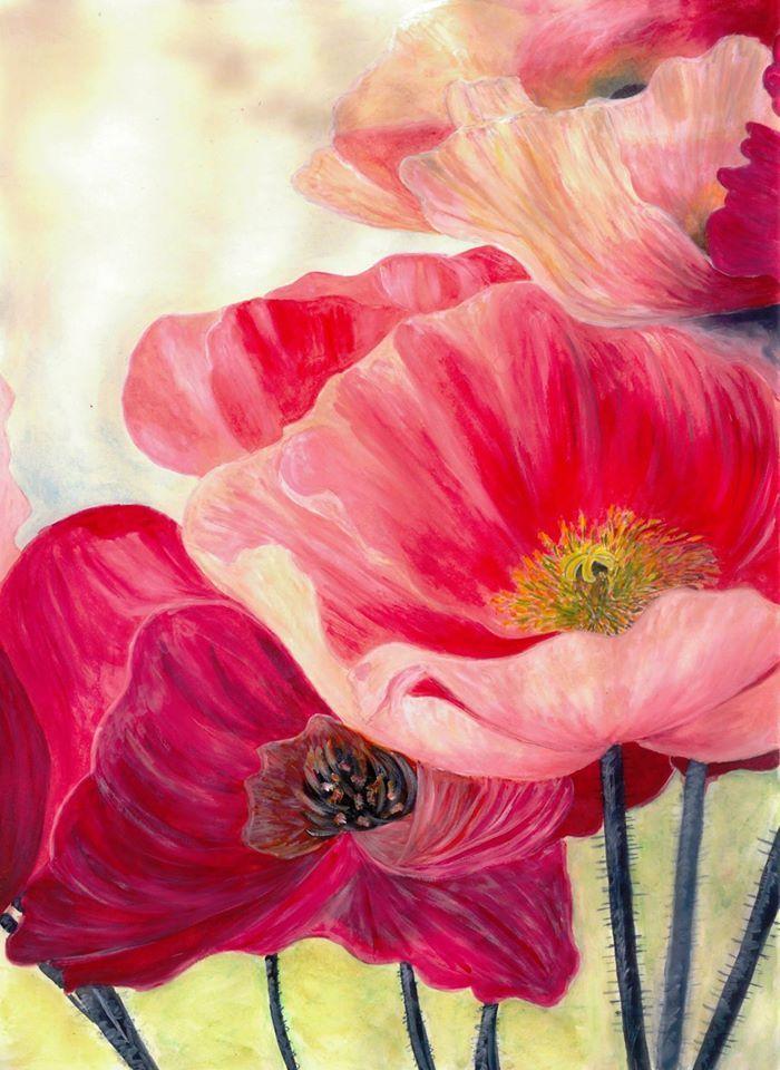 Pin Von Tanya Art Auf Flowers Cvety Babochki Aquarell Aquarell Malen Malen