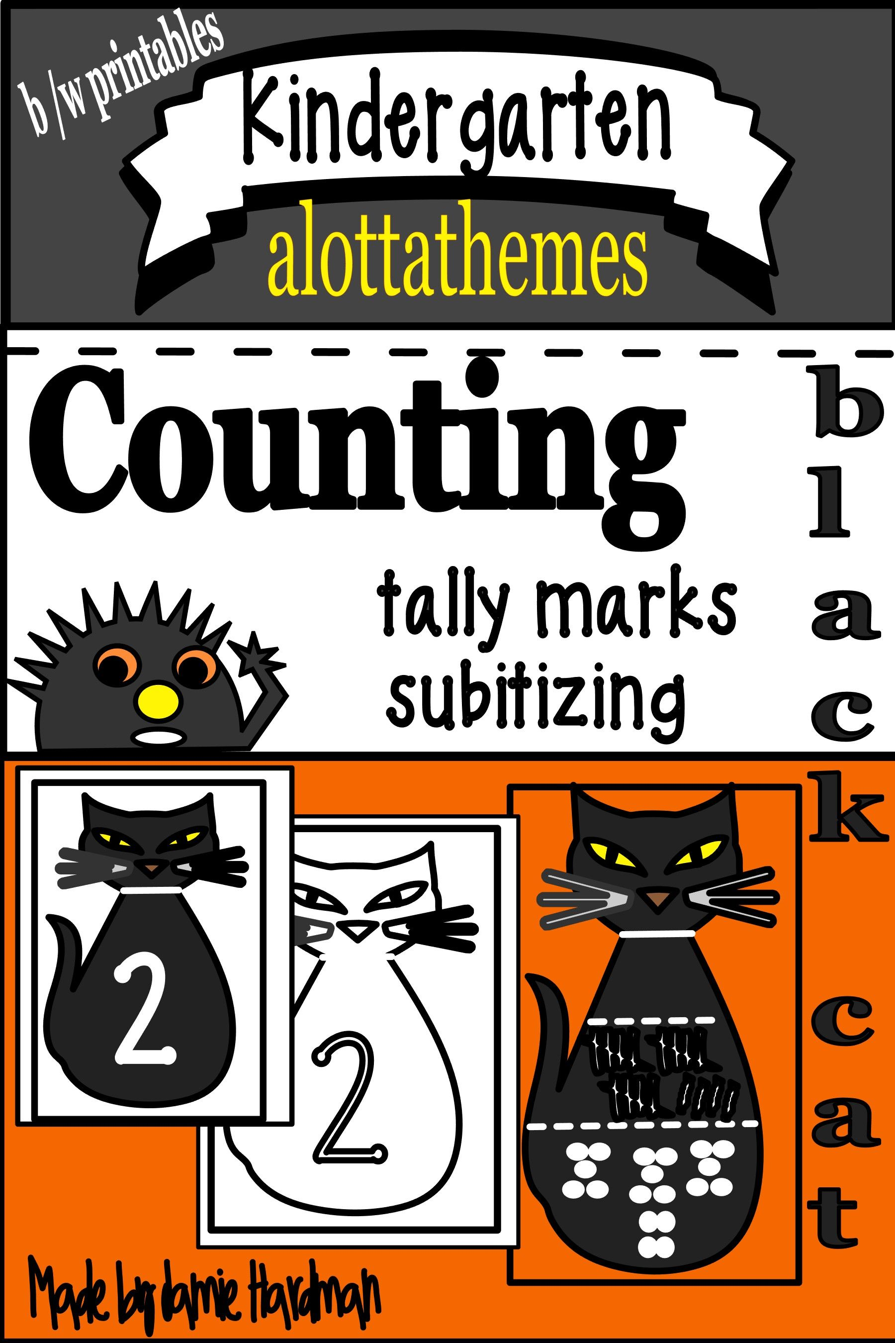 Halloween Numbers Using Tally Marks And Subitizing