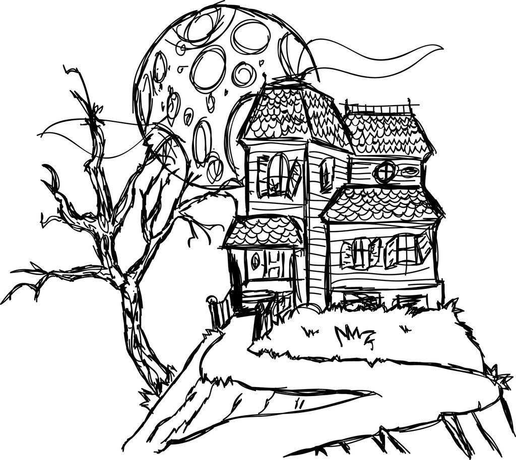 Free Printable Haunted House Coloring Pages For Kids ...