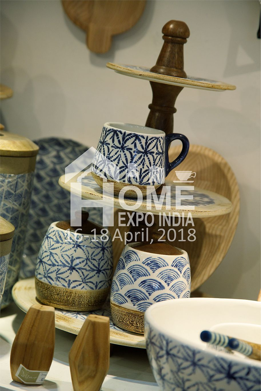 Wood And Ceramic Create Magic With Handpainted Patterns Source These Among Houseware At Home Expo India 2018 Homeex Decorative Jars Housewares Decor