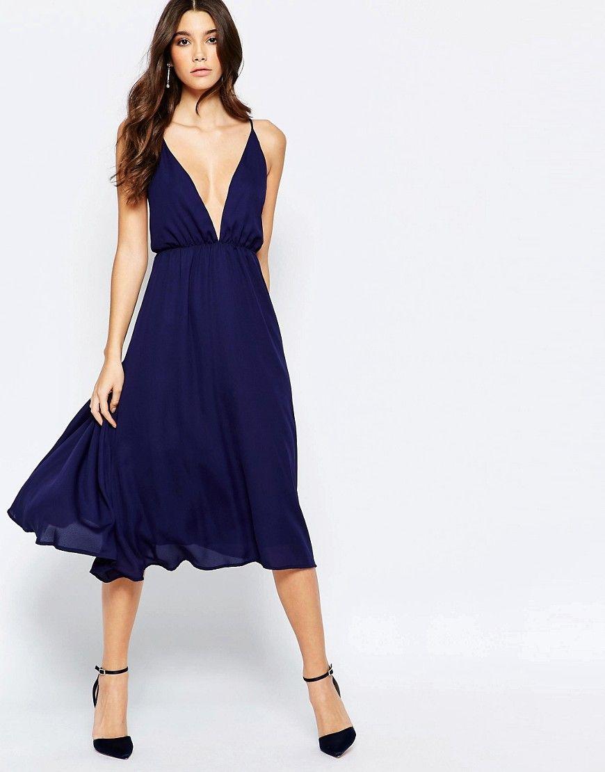 271147da4e32 True Decadence Cami Midi Dress With Deep Back