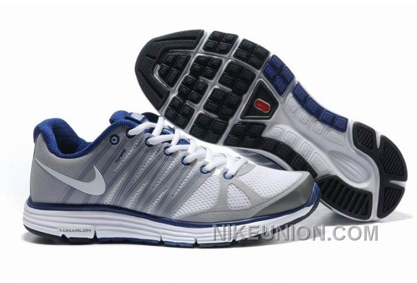 Nike Grey White Blue Lunarelite 2 Shoes