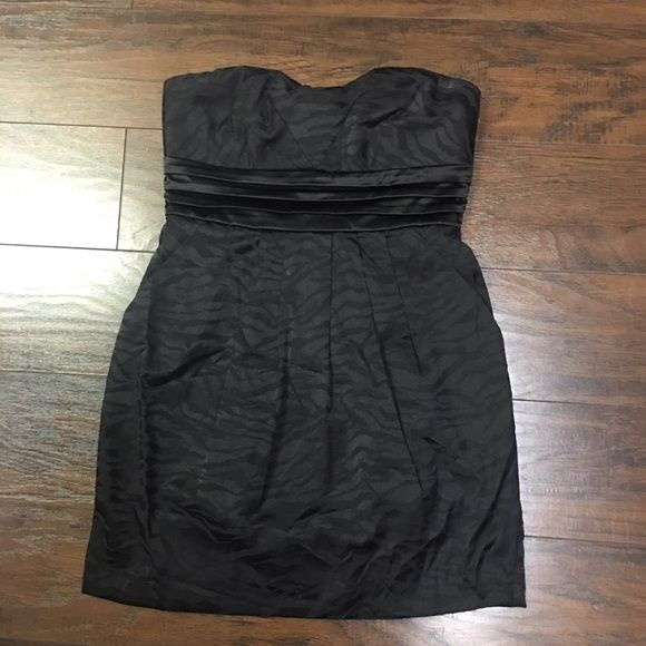 Black strapless dress Black Charlotte Russe strapless dress. Size 6. Zebra print Charlotte Russe Dresses Strapless