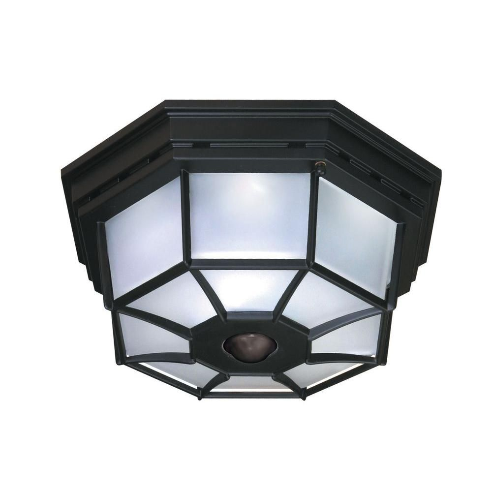 Heath Zenith 360a 4 Light Black Motion Activated Octagonal
