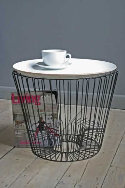 Wire Home Accessories Are Bang On Trend And This Coffee Table Ticks So Many  Boxes The Lovely Wooden Tray Creates The Surface Of The Table This Can Be