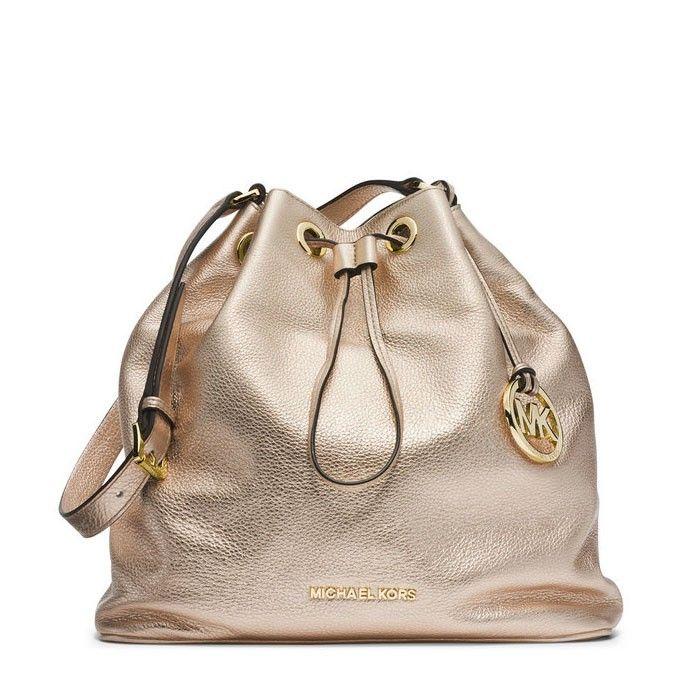 f6e7f297978 MICHAEL Michael Kors Jules Large Drawstring Shoulder Bag Gold ...