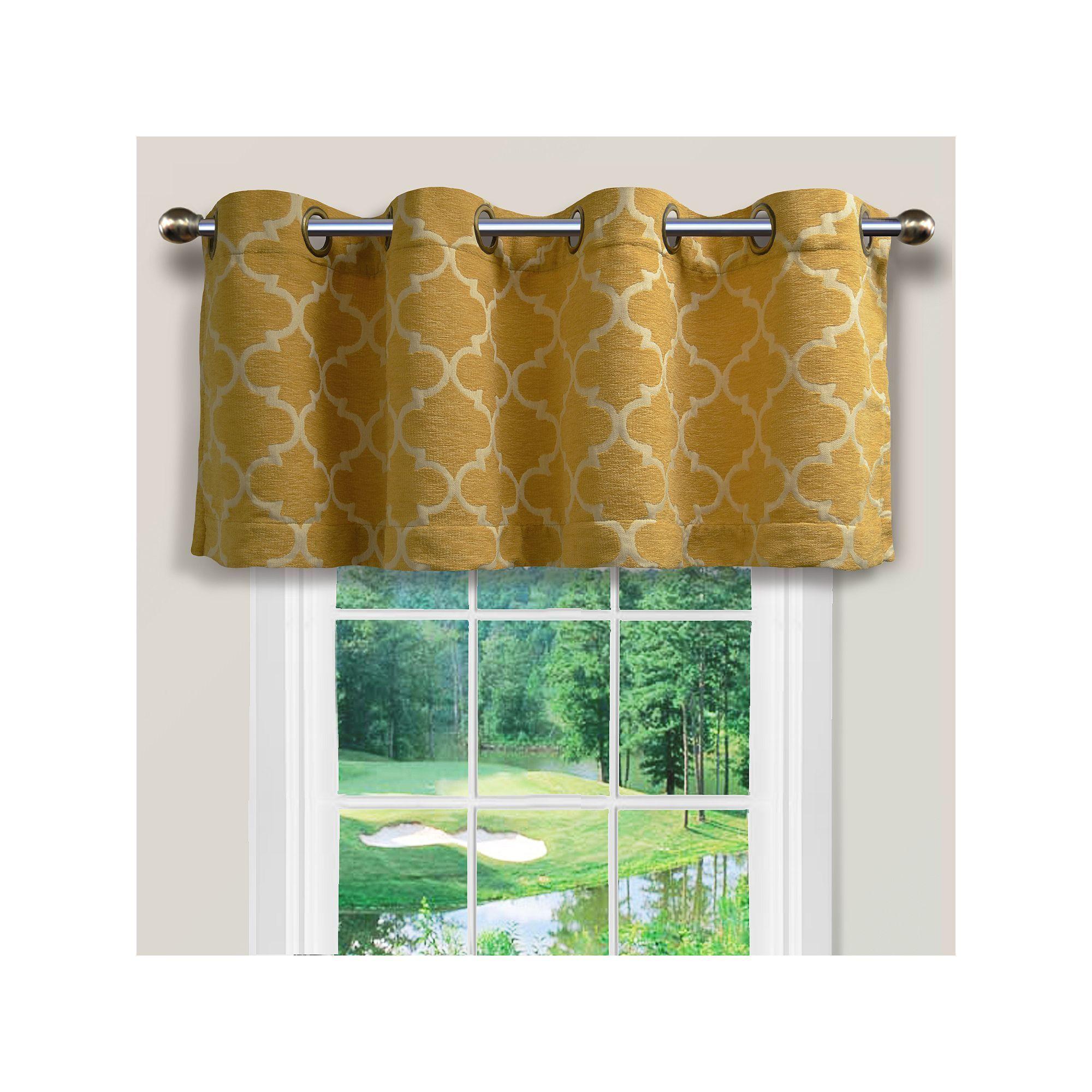 Spencer Home Decor Club Lattice Window Valance - 54 x 16 ...
