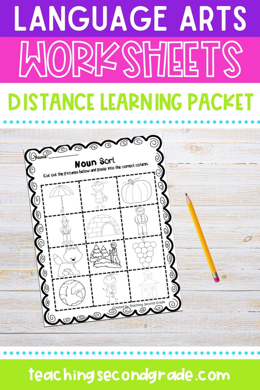 medium resolution of Language Arts Worksheets Distance Learning Packet   Language arts worksheets