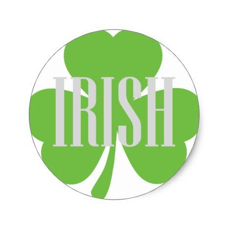 Irish shamrock classic round sticker round stickers