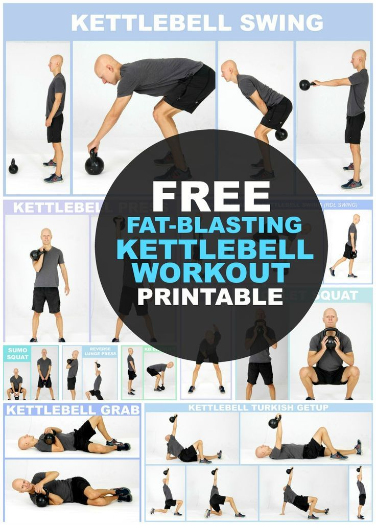 photo relating to Printable Kettlebell Workout identified as 14 Kettlebell Workouts For Fat Reduction (+ Totally free Printable