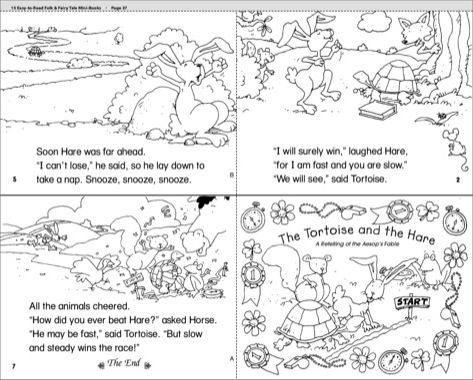 photo regarding Printable Fables referred to as The Tortoise and the Hare - Scholastic Printables Lovely