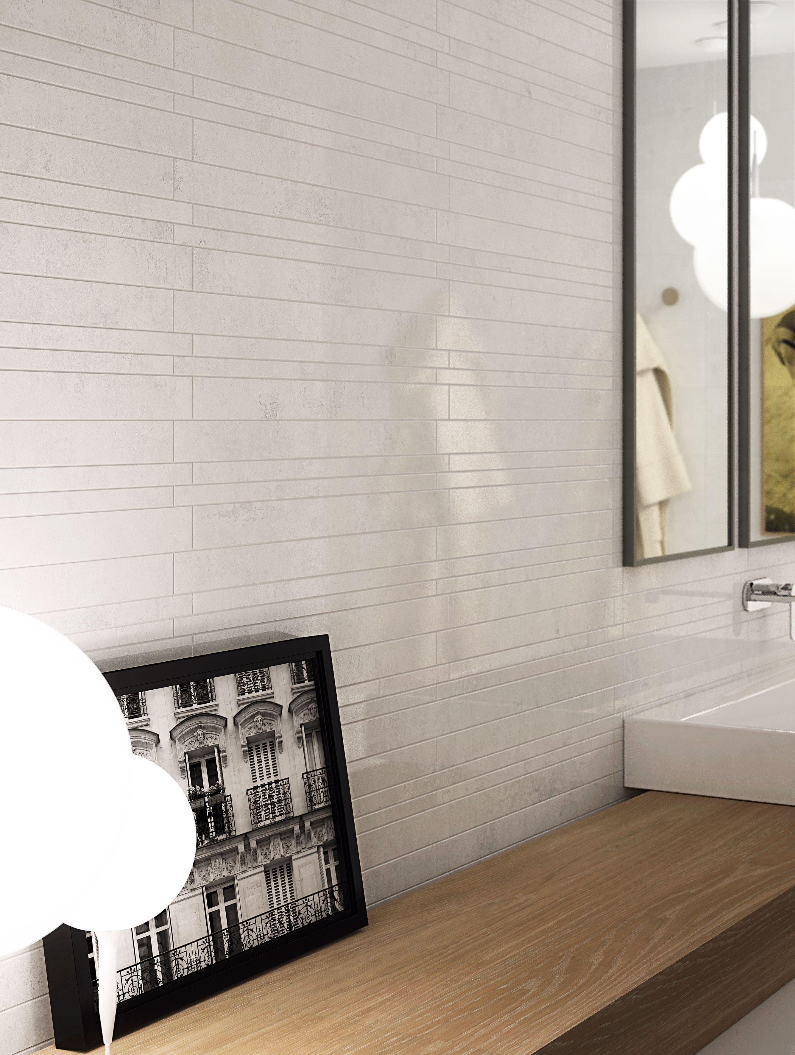 Mosaïque Murale Carrelage Aspect Résine 30x60 Bianco