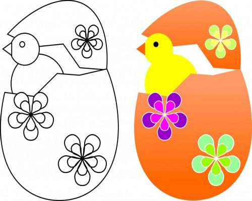 FREE Easter chick coloring page for children Can you