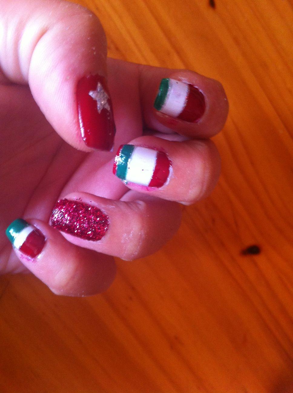 Nail Art Euro 2012 Italia by Cassandra Crossing