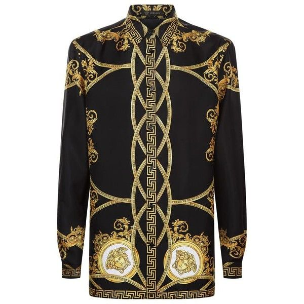 8d0ac3cf1d Versace Oversized Baroque Print Shirt ($1,005) ❤ liked on Polyvore ...