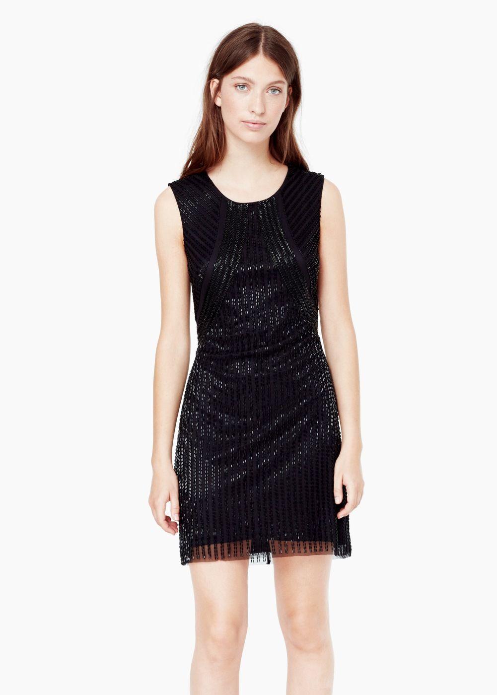 Vestido abalorios cristal - Mujer | Pinterest | Mango, Für damen und ...