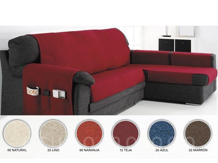 Funda sofa chaise longue serena fundas de sillas y - Funda sofa chaise longue ...
