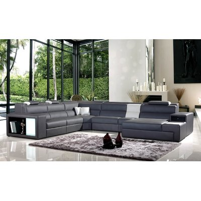 Hokku Designs Camden Right Hand Facing Sectional With Ottoman