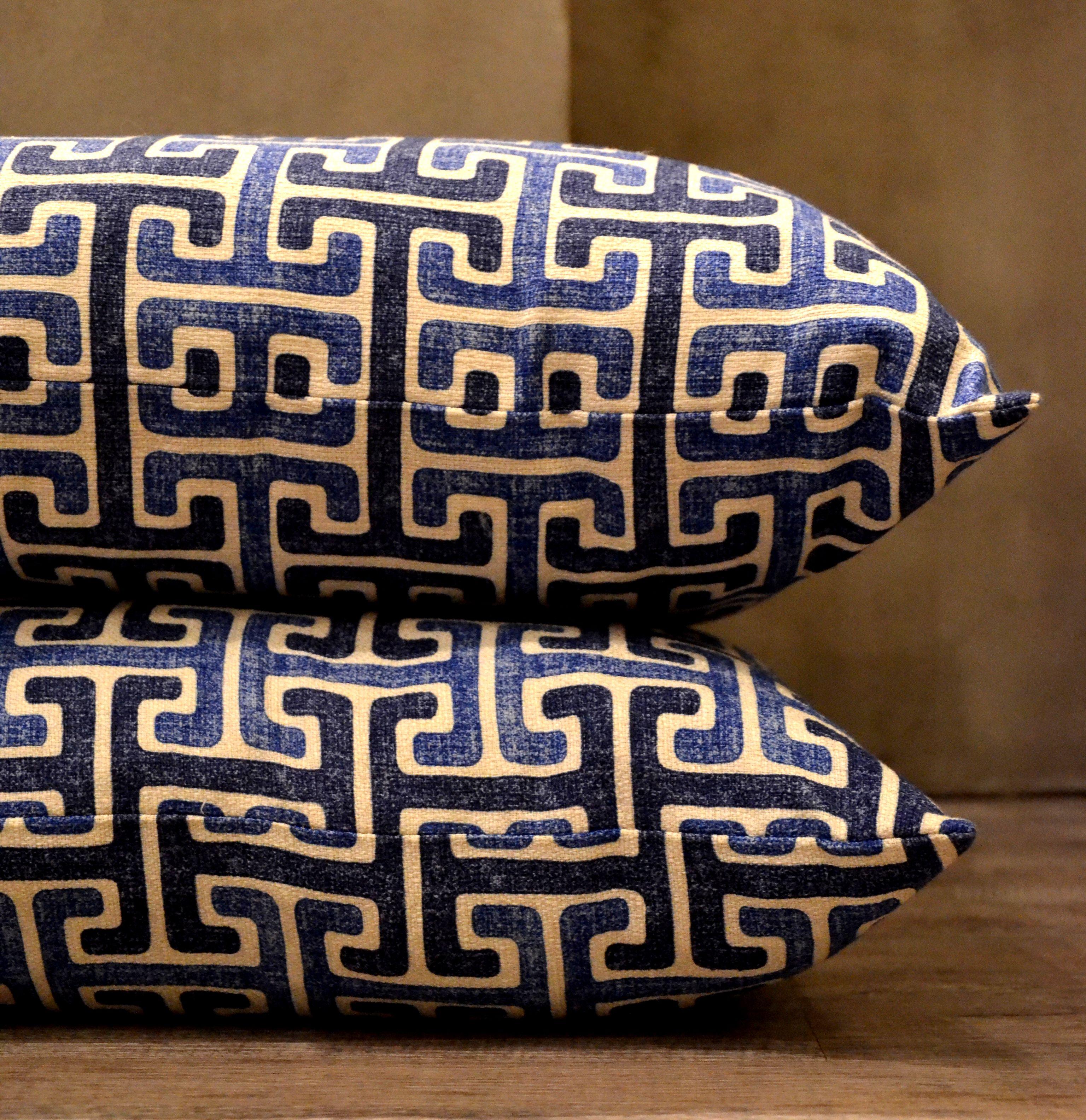 Almohadones color azul, el favorito de todos!