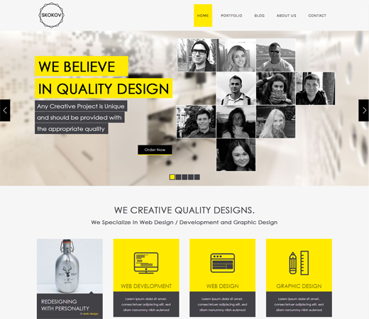 Skokov Corporate Flat Responsive Web Template HttpWLayouts