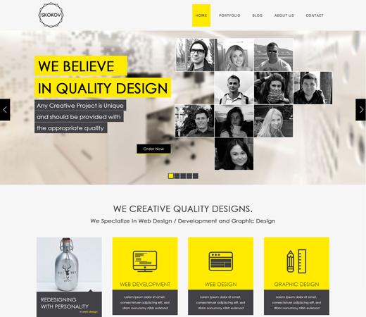 Skokov Corporate Flat Responsive web template. http://w3layouts.com/preview