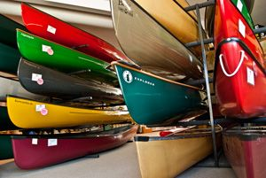 Canoes for sale at Canoe Imports.