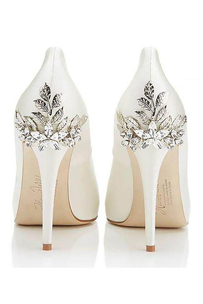 429c2f43eb6b Elegant White Wedding Shoes ❤ See more  http   www.weddingforward.