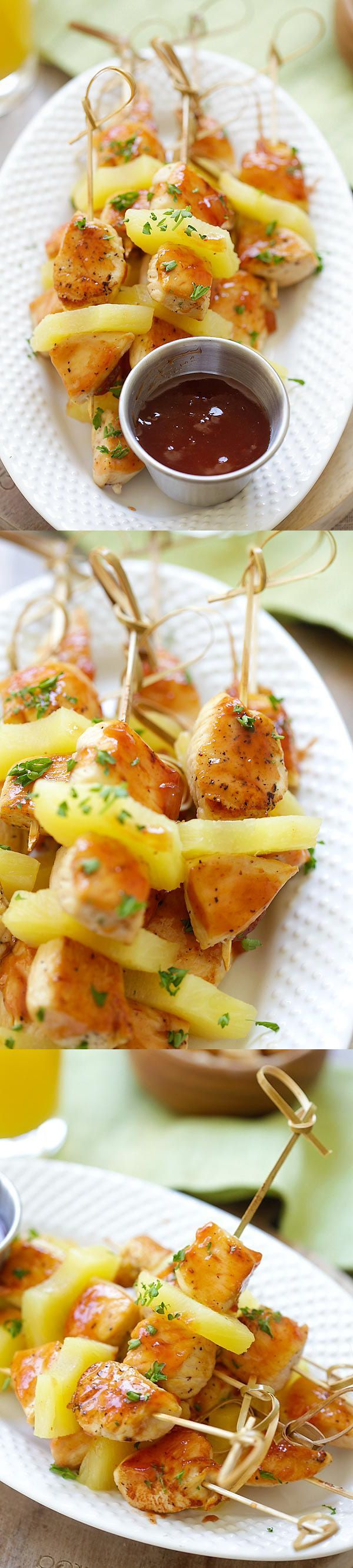 How To Make Hawaiian Chicken Bites | Food Recipes | To celebrate the Aloha spirit, I am sharing with you this amazing Hawaiian chicken bites recipe that is easy, delicious, and perfect for the summer. Entertaining the Hawaiian-style has never been so easy with all the amazing brands and food products from Hawaii: King's Hawaiian, Dole, SPAM®, Ma... #Chicken, #Healthy, #Pepper, #Pineapples, #Recipes #hawaiianfoodrecipes