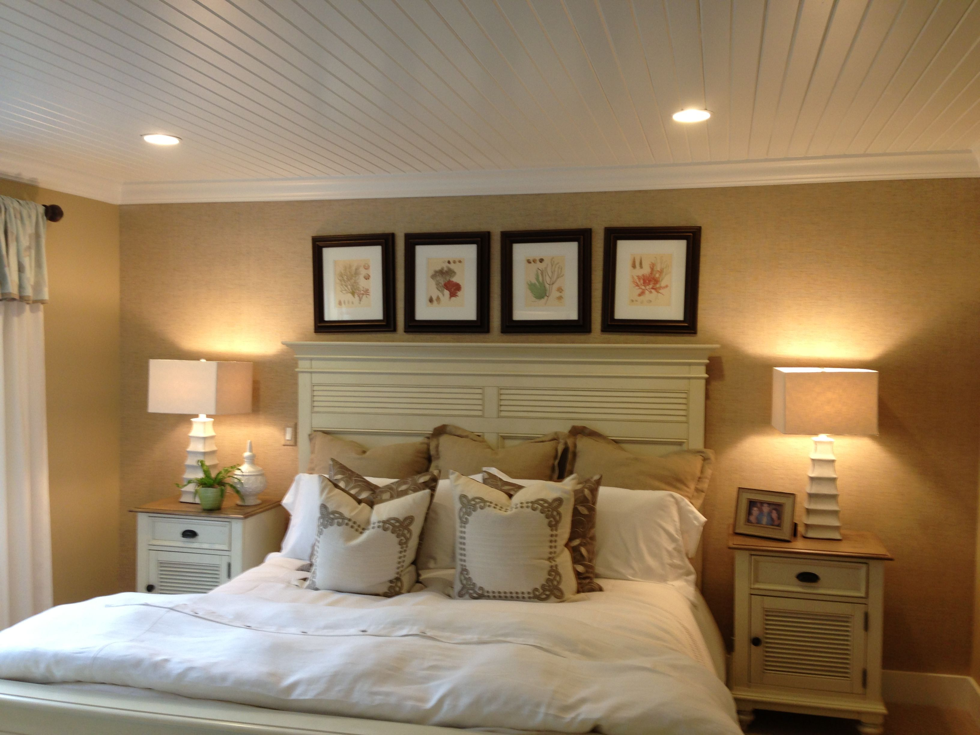 White paneled ceiling portico model home by the green company the pinehills plymouth