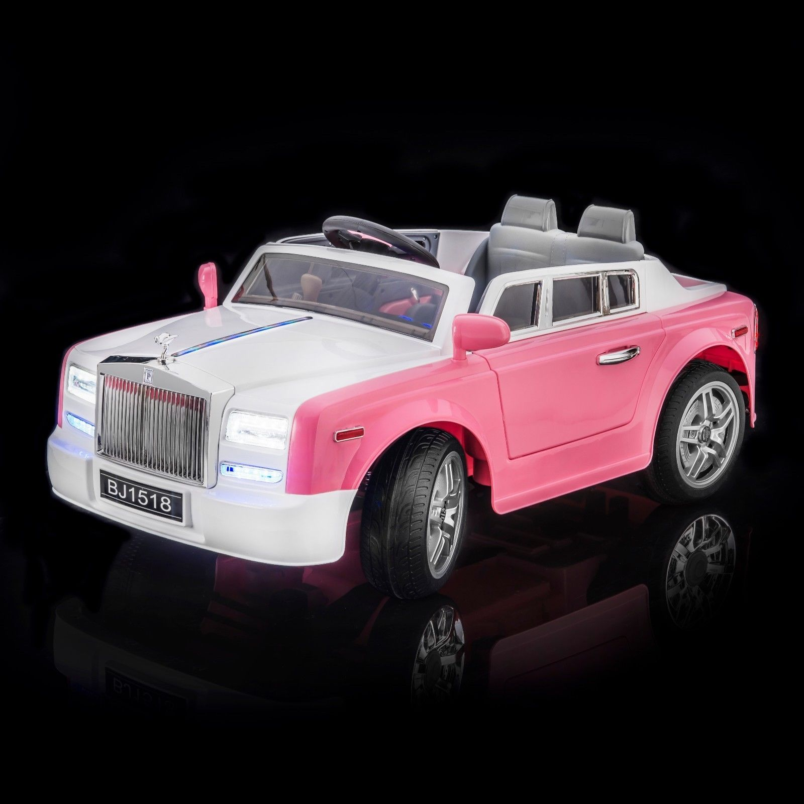 SPORTrax Ghost Kids Ride on Car FREE MP3 Player Pink