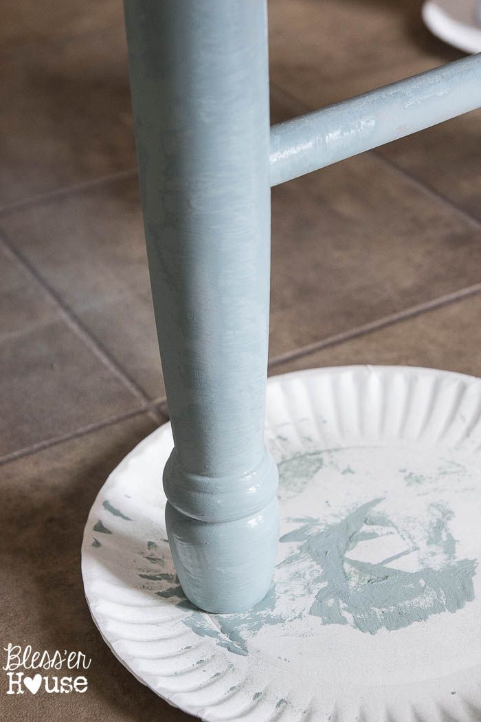 Distressed Duck Egg Dining Chairs Makeover Paint Colors