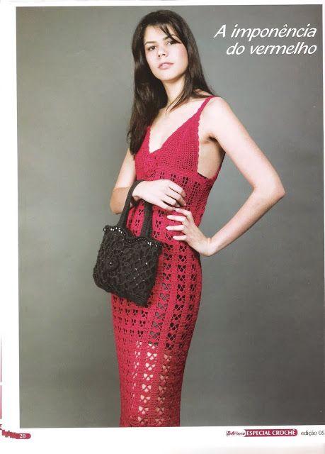 Vestido Maxi Italiano Clasico Patron - Patrones Crochet   Vestidos ...