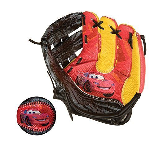 Franklin Sports Disney-Pixar CARS 9 Inch Air Tech Baseball Glove And Ball Set by Franklin Sports: 9″ Air Tech soft foam glove, Adjustable…