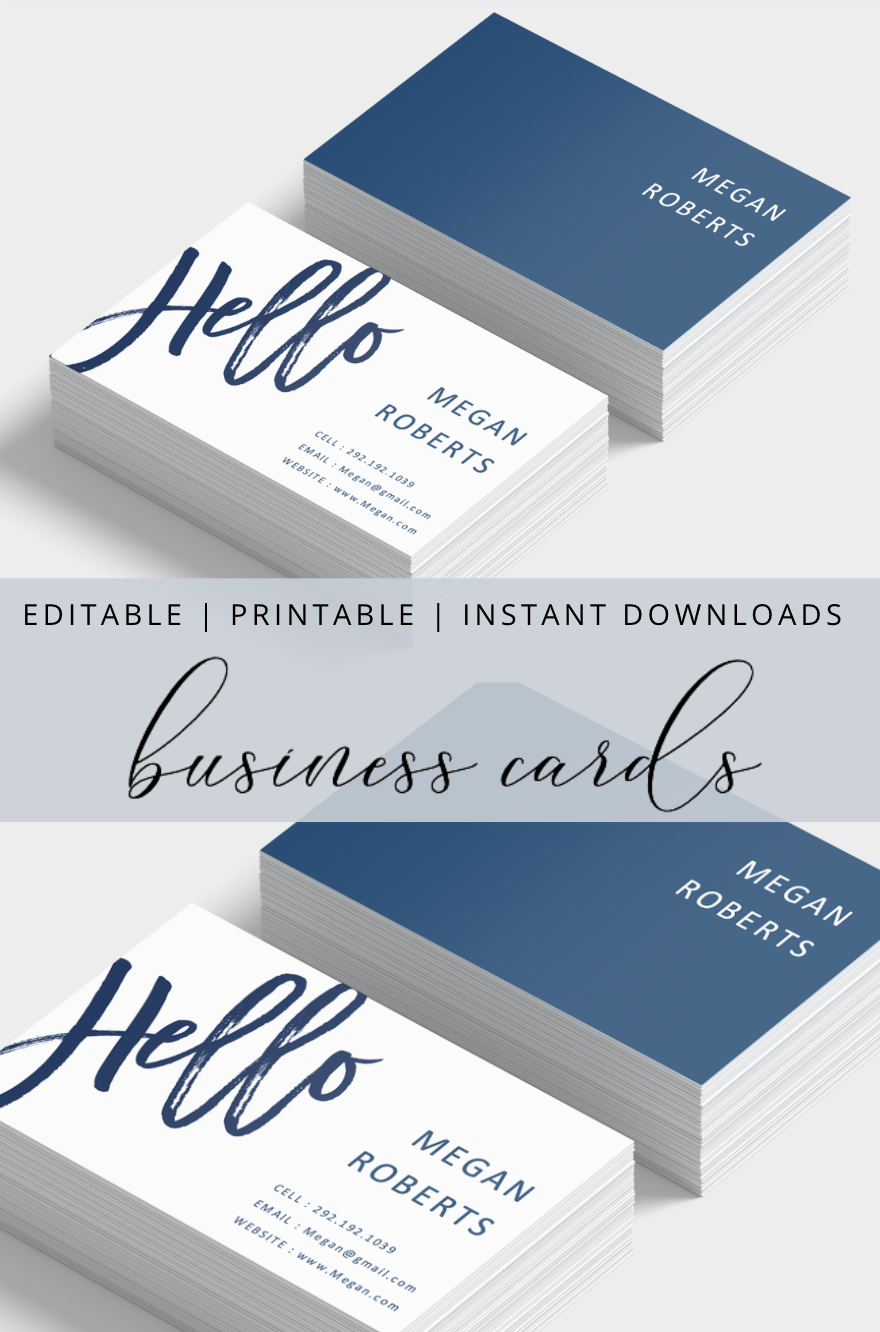Editable Printable And Instant Download Business Cards Make Business Cards Download Business Card Business Cards Diy Templates