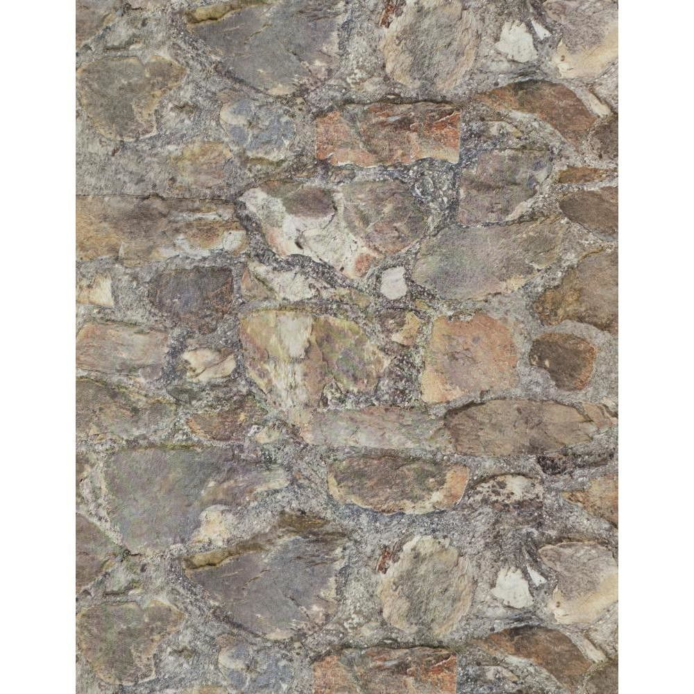 """Weathered Finishes 33' x 20.8"""" Field Stone Wallpaper"""