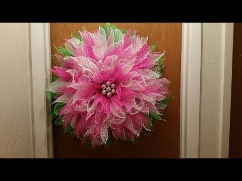 Dollar Tree Decorative Mesh Wreath Poinsettia Wreath