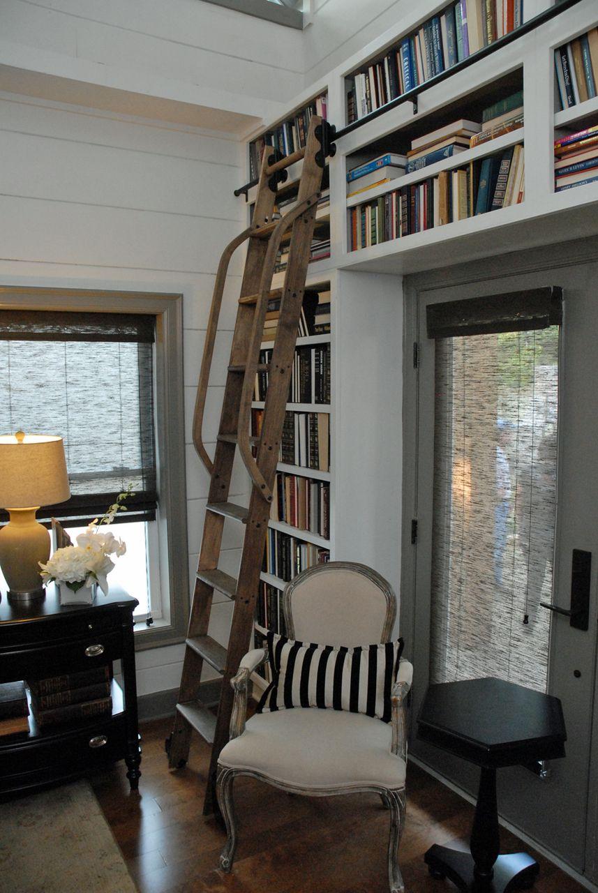 Rolling library ladder maple ladder kit with black hardware u