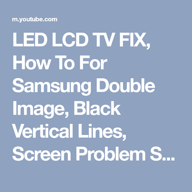 Sony Tv Vertical Lines On Screen