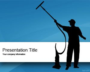Free Cleaner Powerpoint Template With Cleaner Employee
