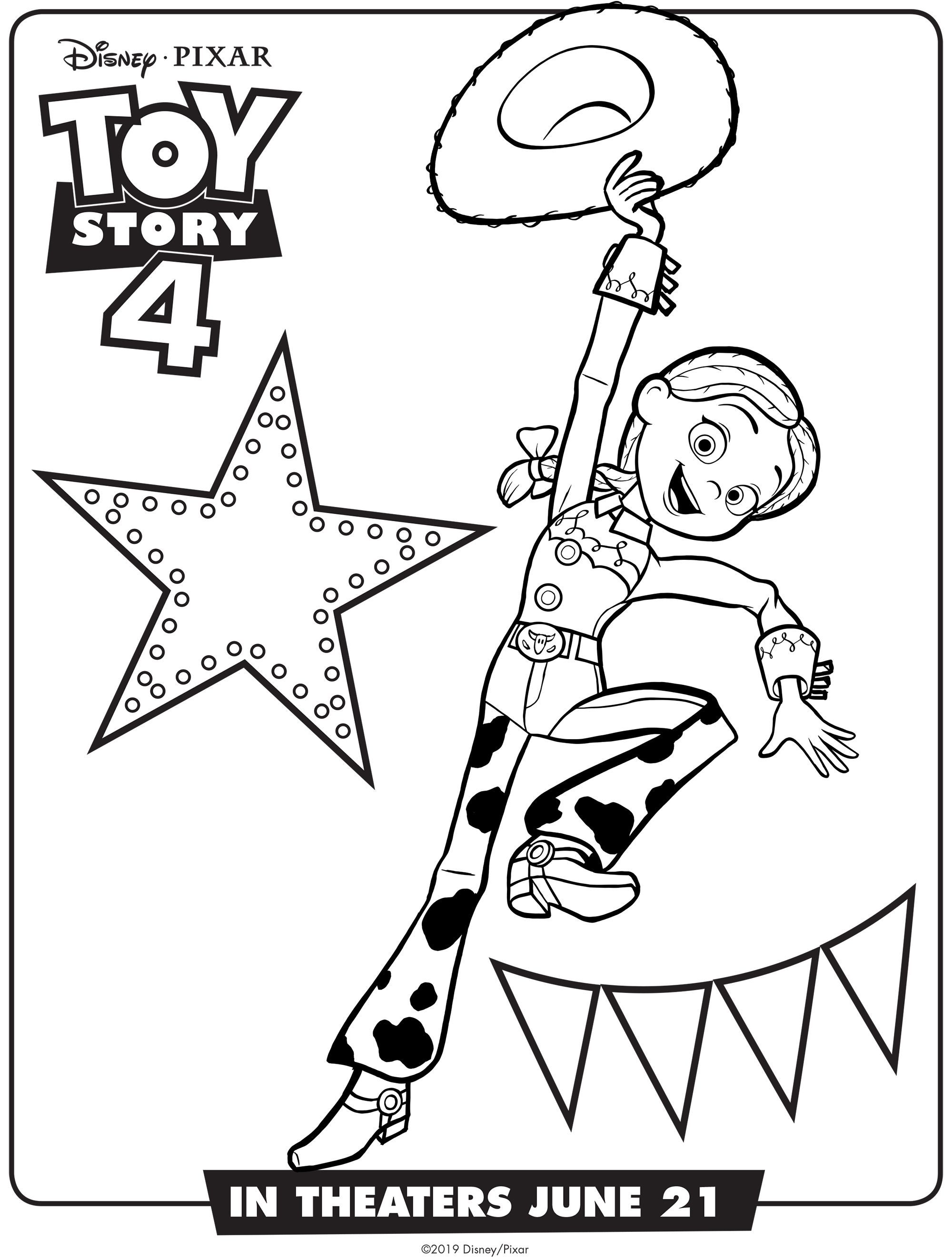 Toy Story Four Coloring Sheets Pics