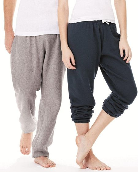Bella Canvas Unisex Long Scrunch Fleece Pant from NYFifth