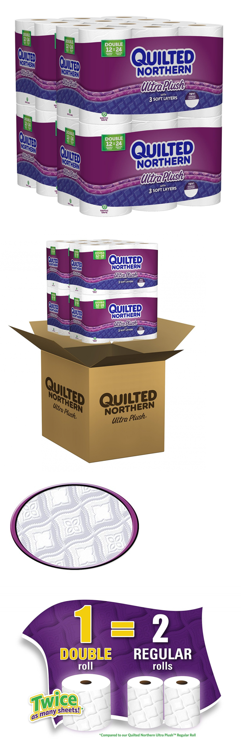 Toilet Paper 179204 Quilted Northern Ultra Plush Double Rolls