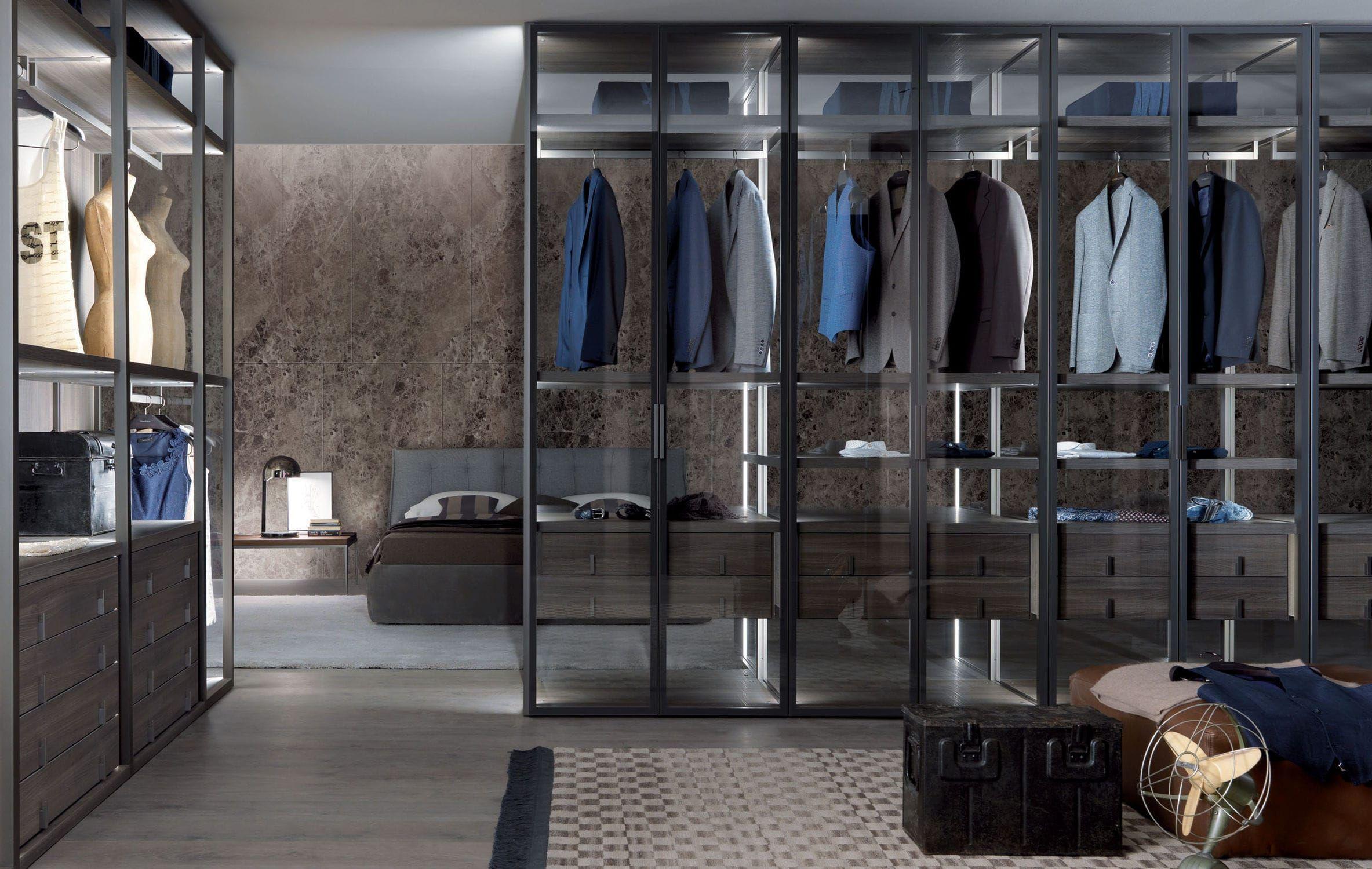 Cabina armadio ad angolo / moderna / in legno / su misura - PALO ...