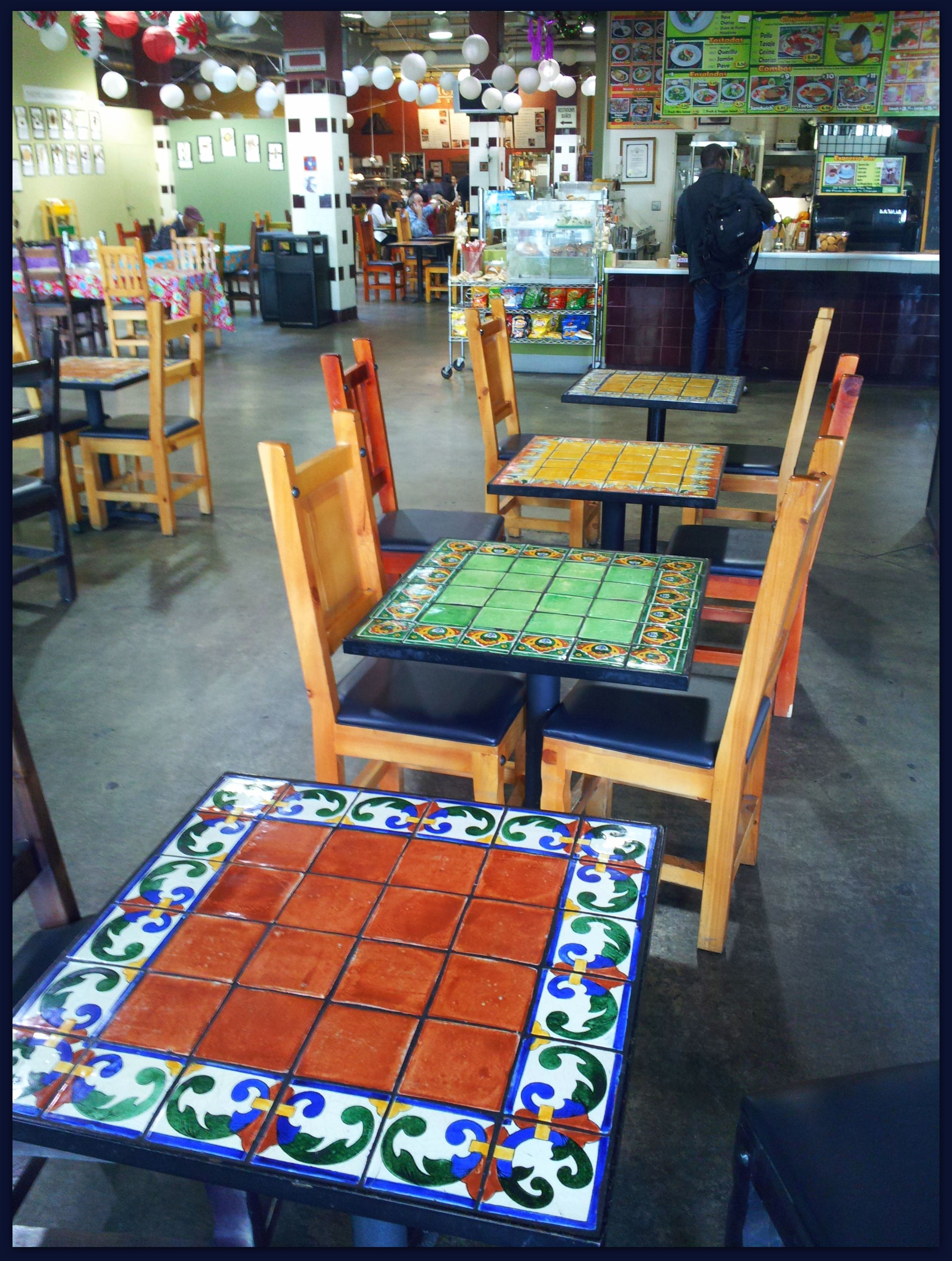 Mexican Tile Top Patio Table and Chairs
